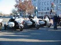 The police even had sidecars!
