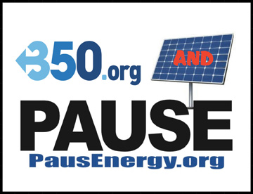 350.ORG and PAUSE