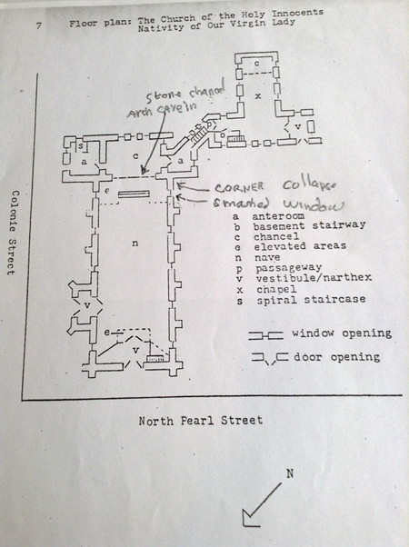 Floor Plan of the Holy Innocents
