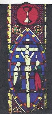 Stained glass window from Holy Innocents