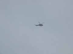 Helicopter watches us